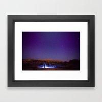 Exploring The Night Framed Art Print