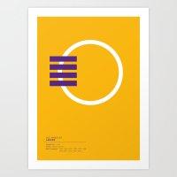 Los Angeles Lakers Geome… Art Print