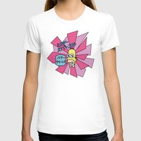 Mr. Sparkle Womens Fitted Tee White SMALL