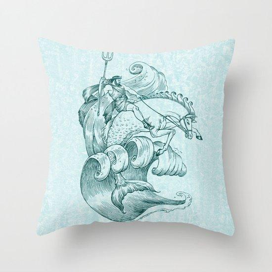 Poseidon Throw Pillow