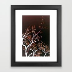 inverse tree Framed Art Print