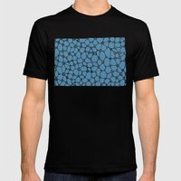 Yzor pattern 006 kitai blue Mens Fitted Tee Black SMALL
