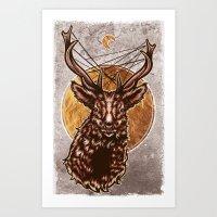 Golden Stag Art Print