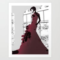 Gown Art Print