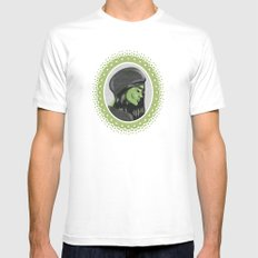 Elphaba White Mens Fitted Tee SMALL