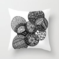Sharpie Circles Throw Pillow