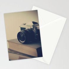 Vintage Nikon Camera and Old Books Stationery Cards