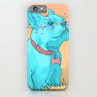 iPhone Cases featuring Psychedelic French Bulldog by Psychedelic Astronaut