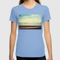 As The Sun Begins To Fad… Womens Fitted Tee Tri-Blue SMALL