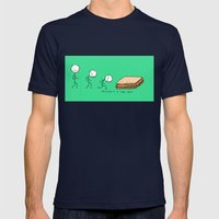Evolution of a Tuna Melt Mens Fitted Tee Navy SMALL