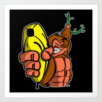 GUNS DON'T KILL PEOPLE... BANANAS DO! Art Print