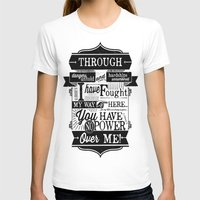 Labyrinth Quote You Have No Power Over Me Womens Fitted Tee White SMALL