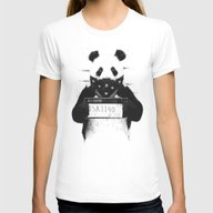 Bad Panda Womens Fitted Tee White MEDIUM