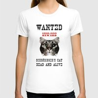 Schrödinger's Cat Womens Fitted Tee White SMALL