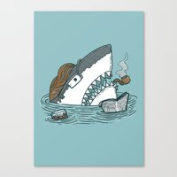 The Dad Shark Canvas Print