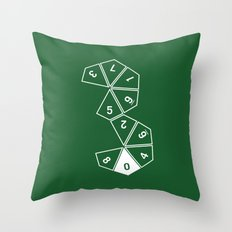 Unrolled D10 Throw Pillow