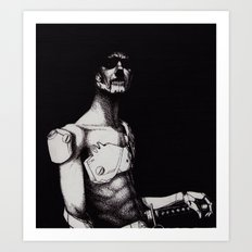 cyborg samurai Art Print