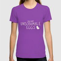 Scrambled Eggs Womens Fitted Tee Ultraviolet SMALL