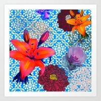 old flowers Art Print