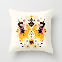 Music is happiness Throw Pillow