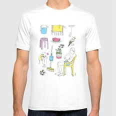 Balcony Mens Fitted Tee White SMALL