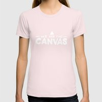 Canvas Womens Fitted Tee Light Pink SMALL