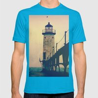 Beacon Mens Fitted Tee Teal SMALL