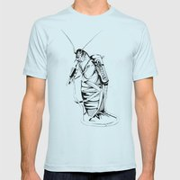 _life like a cockroach Mens Fitted Tee Light Blue SMALL