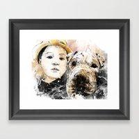 Best Friends Framed Art Print