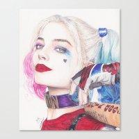 HARLEY BEAUTIFUL CRAZY QUINN! Canvas Print