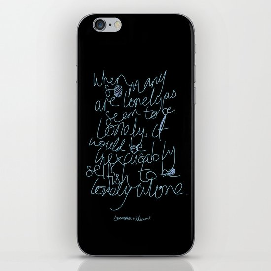 To be lonely alone iPhone & iPod Skin