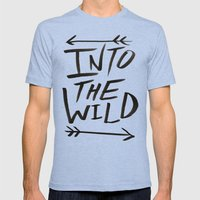 Into The Wild Mens Fitted Tee Tri-Blue SMALL