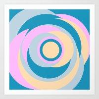 Simple Shapes Series Art Print
