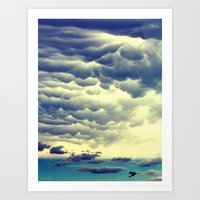 Mammatus Clouds II Art Print