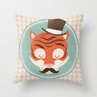 Uncommon Creatures - Tig… Throw Pillow