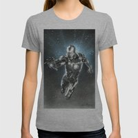Iron man Womens Fitted Tee Athletic Grey SMALL