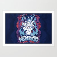WENDIGO Spirit Drum Art Print