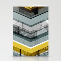 Grey & Yellow Chevron Stationery Cards