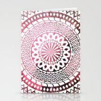 Nebula Snake Mandala Stationery Cards