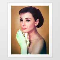 Oh, Audrey!  Art Print