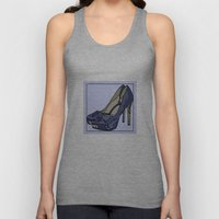 Blue sweet shoe -or....? Unisex Tank Top