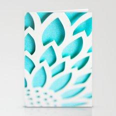 Blue Floral 3D Paperart Stationery Cards