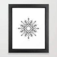 Dotwork Mandala Framed Art Print