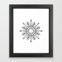 Dotwork Mandala Framed Art Print