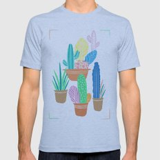 Cactus Mens Fitted Tee Athletic Blue SMALL
