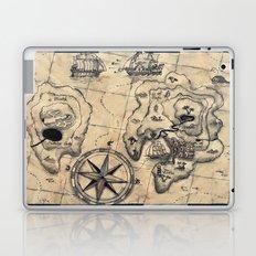 Old Nautical Map Laptop & iPad Skin