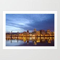 That Portland Skyline Art Print