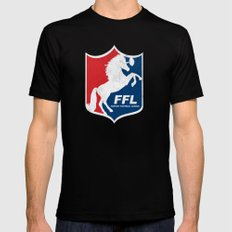 Fantasy Football League Black Mens Fitted Tee SMALL
