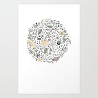 Circulo De Flores Art Print