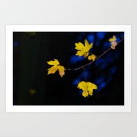 Yellow and blue Art Print